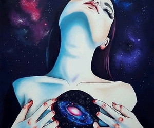 art, galaxy, and space image