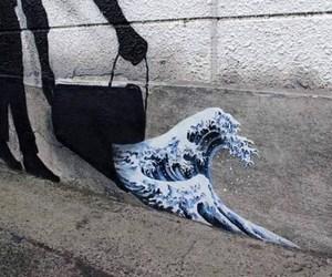 art, grunge, and waves image