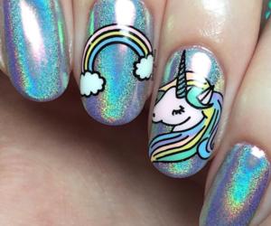 glitter, nail, and nail art image
