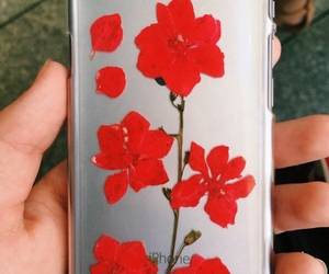 case, iphone, and red image