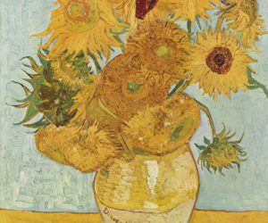 sunflower, art, and van gogh image