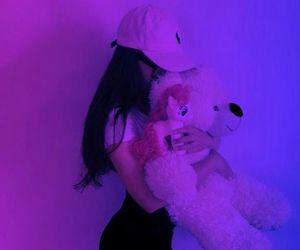 purple, aesthetic, and girl image