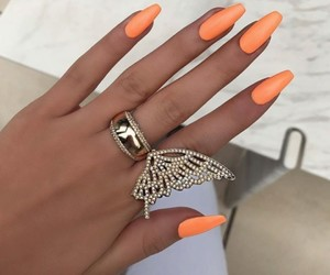 nails, orange, and luxury image