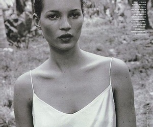 model, black and white, and kate moss image
