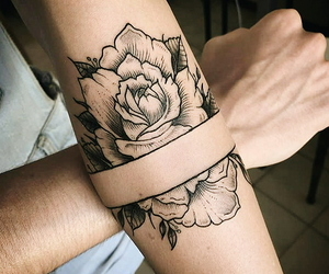 arm, ink, and roses image