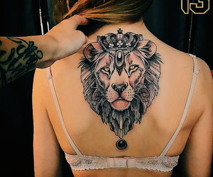 back, Tattoos, and girl image