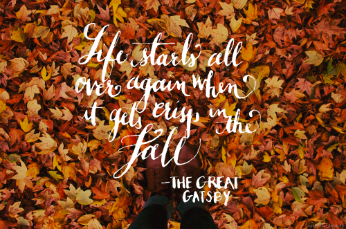autumn and quote image
