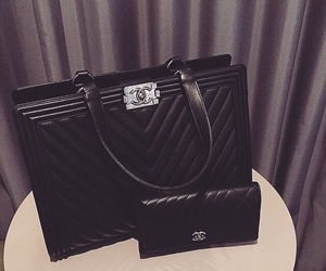 purse, chanel, and wallet image