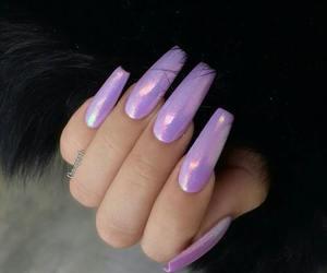 nails, purple, and glitter image