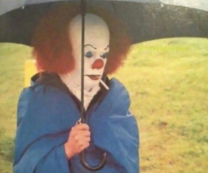 it, clown, and Tim Curry image