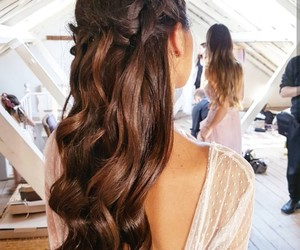beauty, brunette, and hair image