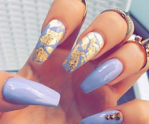 blue, cute, and gold image