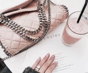 pink, bag, and drink image