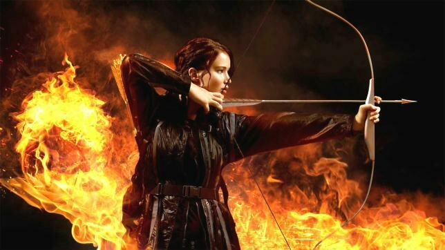 arrow, fire, and bow image