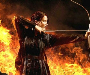 arrow, bow, and fire image