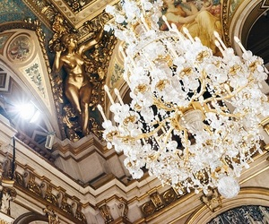 architecture, travel, and chandelier image