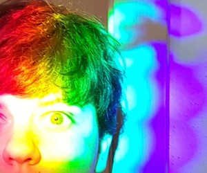 aesthetic, rainbow, and colorful image