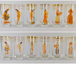 etsy, 1950s vintage, and beer glass image