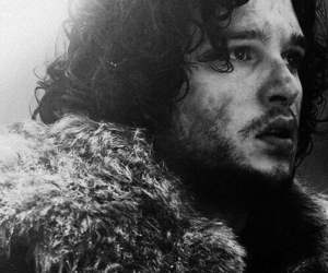 black and white, got, and game of thrones image