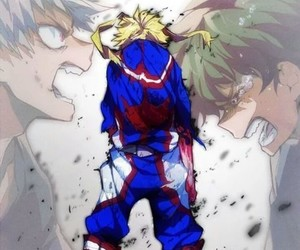 all might, boku no hero academia, and katsuki bakugou image
