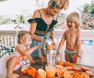 family, child, and mommy image