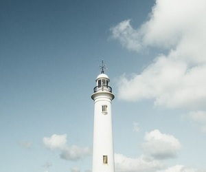 blue, clouds, and lighthouse image