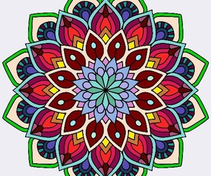 color, couleur, and mandala image