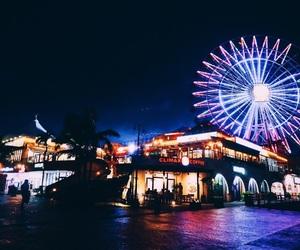 neon, night, and okinawa image