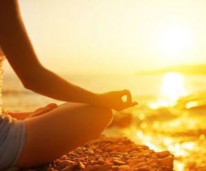 beach, Buddha, and meditate image
