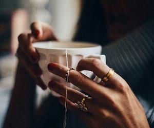 tea, rings, and coffee image