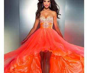 dresses, orange, and fashion image