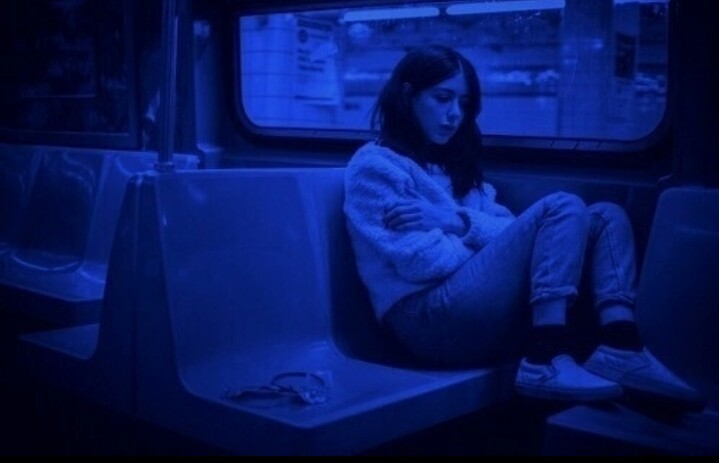 grunge, sad, and alone image