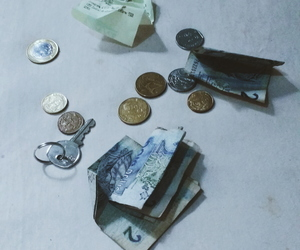 money, simplicity, and coins image