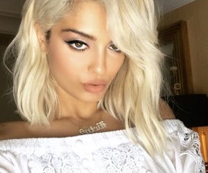 blonde and bebe rexha image