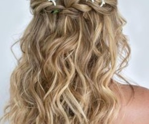 brides, bridesmaid, and hairstyle image