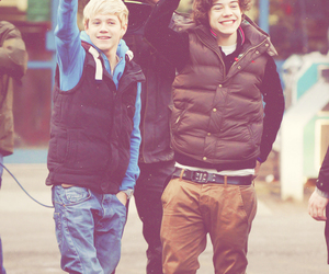 waving, niall horan, and Harry Styles image
