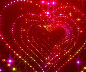 red, heart, and light image