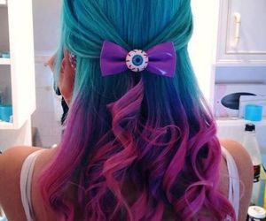 hair, multi-colored hair, and pink image