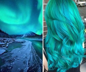 blue hair, cool, and fashion image