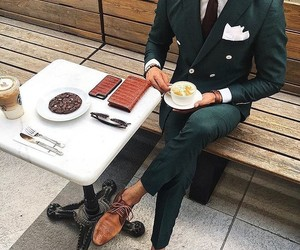 boy, classy, and coffee image