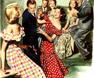 1950s, vintage illustration, and vinyl image