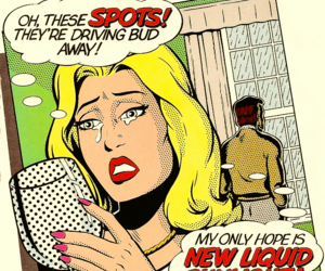 pop art, soap, and vintage advertising image
