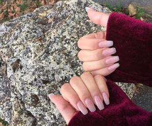 hand, make up, and nail image