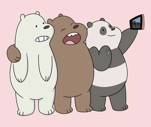 bear, wallpaper, and selfie image