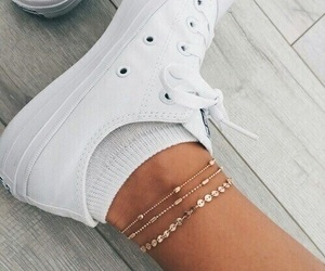 foot, girly, and gold image