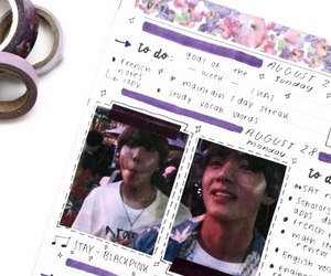 journal, journaling, and kpop image