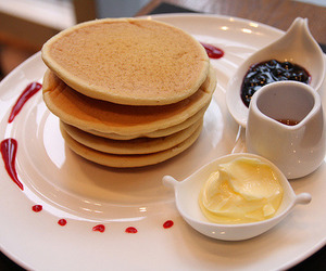 pancakes, food, and breakfast image