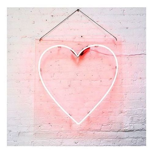 heart, pink, and neon image