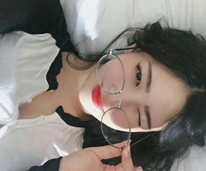 adorable, glasses, and pretty image