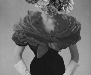 bw, flowers, and vintage image
